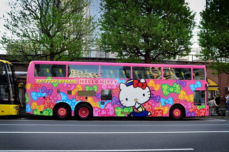 Hello Kitty Bus - Blinged out transportation