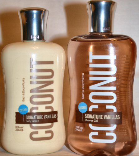 Bath & Body Works Signature Collection Coconut Vanilla Body Lotion and Shower Gel Bath & Body Works http://www.amazon.com/dp/B005G853AI/ref=cm_sw_r_pi_dp_A00Tvb0X8MVPP