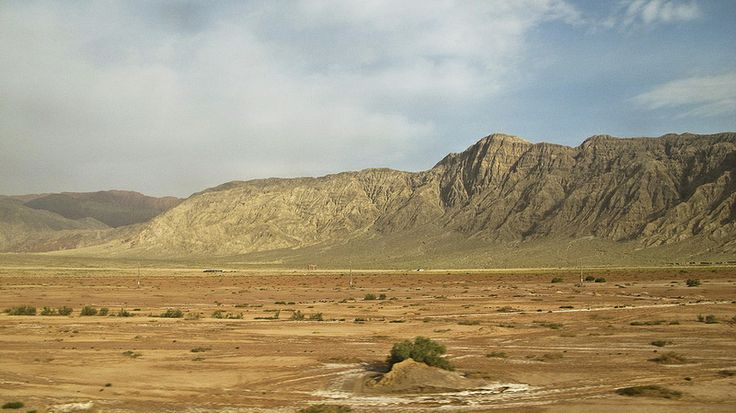 The view of Taklamakan Desert from my train window on the way from Aksu to Kashgar.