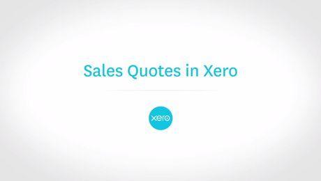 Sales Quotes in Xero