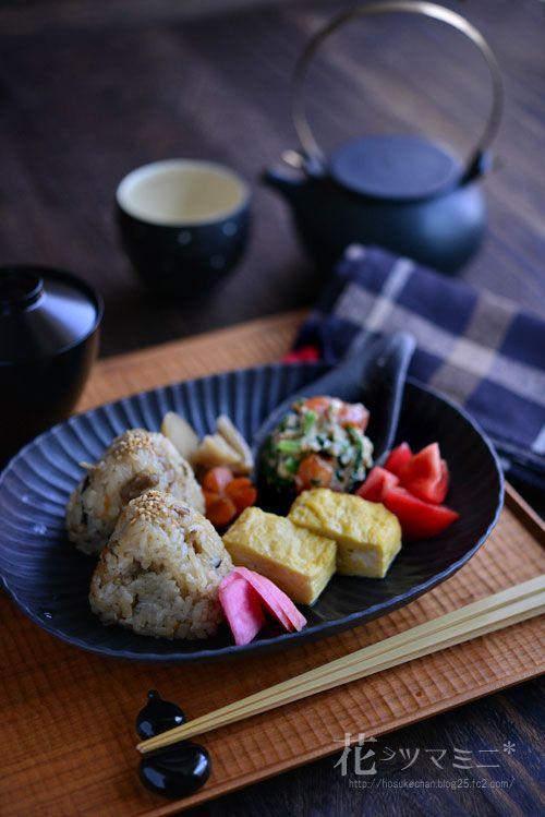 Kashiwa Rice - Onigiri - Tamagoyaki