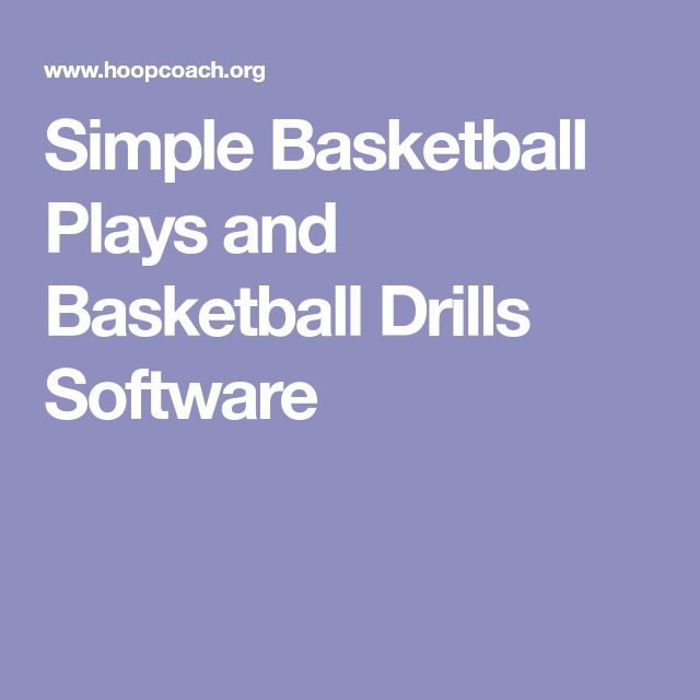 Simple Basketball Plays and Basketball Drills Software