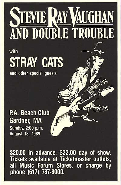 Stevie Ray Vaughan with special guest The Stray Cats. What an Awesome show!