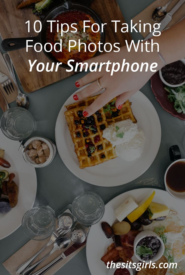 Food photography is an art. While you may have an area set up in your home to take pictures, most of the time you are photographing food you are out on the go and using your smartphone. These 10 photography tips will help you capture the perfect food shot.