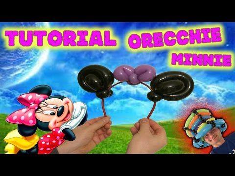 PALLONCINI MODELLABILI tutorial 33 ORECCHIE DI MINNIE (con cerchietto per capelli) - YouTube