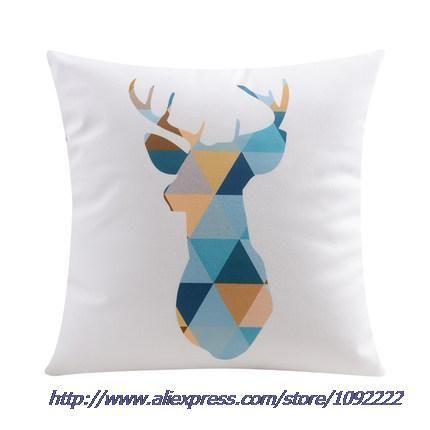 Cartoon herten kussen kussen geometrische art ananas kussen stoel scandinavische stijl thuis fluwelen sofa kussen kussen, herten kussens in         eigenschap van het productGrootte: 45cmx45cm( ongeveer 1 van Kussen op AliExpress.com | Alibaba Groep