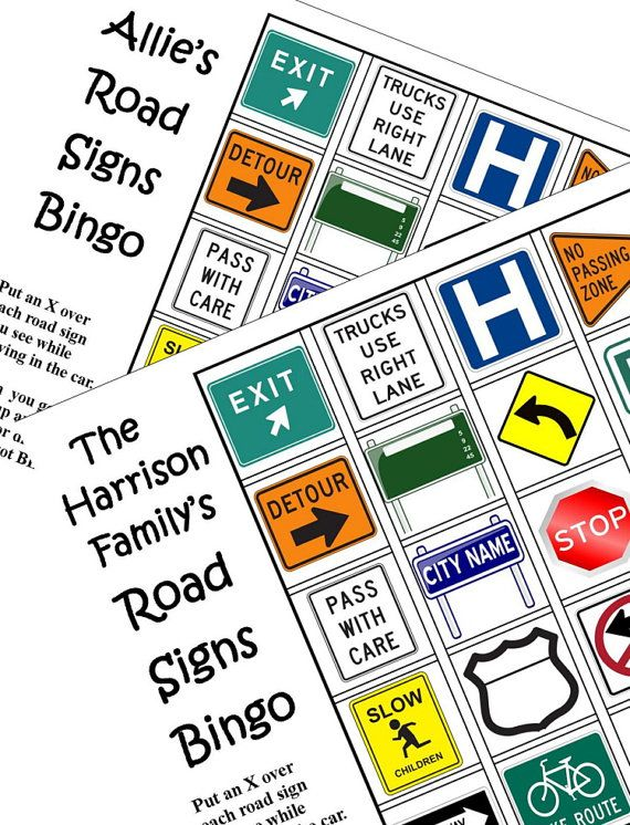 Best  Car Bingo Ideas Only On Pinterest Road Trip Bingo Car - Car sign and name