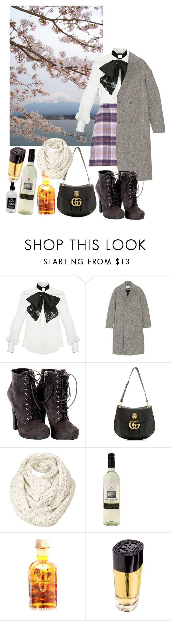 Untitled #438 by danielagreg on Polyvore featuring Elisabetta Franchi, T By Alexander Wang, Dolce&Gabbana, Gucci, Fat Face, Diptyque, Little Barn Apothecary, Lola's Apothecary and Ultimate