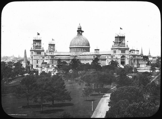 The Garden Palace / The Garden Palace was situated just south of the present Conservatorium of Music in Macquarie Street, Sydney. / Built in only eight months to house the Sydney International Exhibition which opened 17 September 1879. It burnt down on September 22 1882. / State Records NSW, via Flickr / Only the entrance gates remain today.