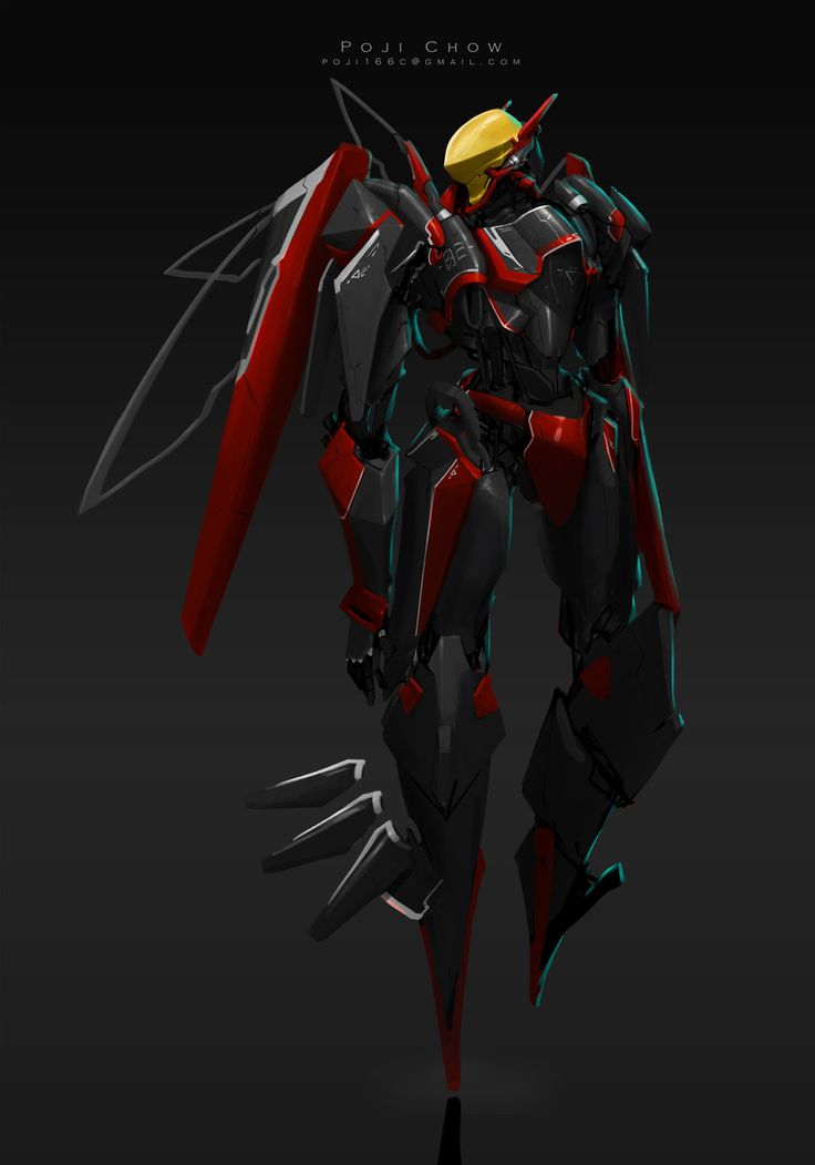 mech-Red.Wasp, Poji  Chow on ArtStation at https://www.artstation.com/artwork/mech-red-wasp