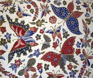Batik motif kupu. Tulis. Lasem - Indonesia