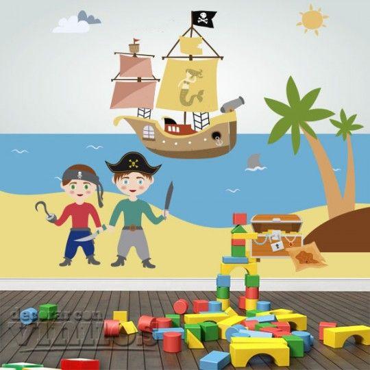 Fotomural Infantil  - Piratas