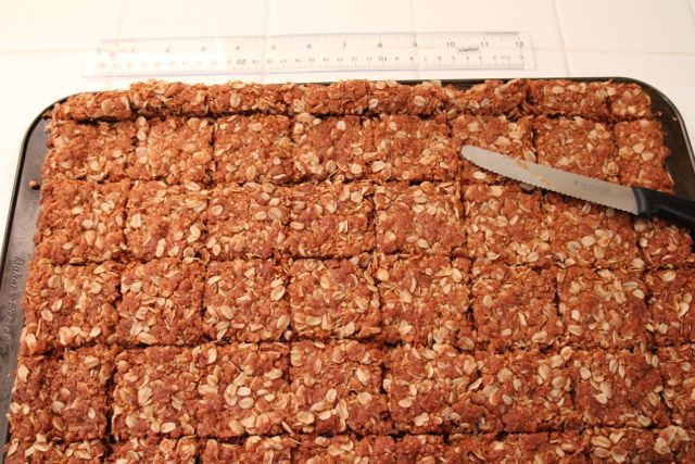 Traditional Crunchies — Traditional South African Oatmeal Cookie Bars, ,
