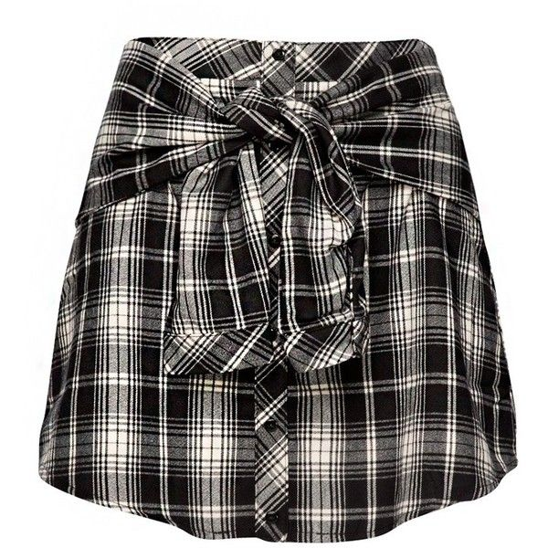 That's a Wrap Plaid Skirt found on Polyvore