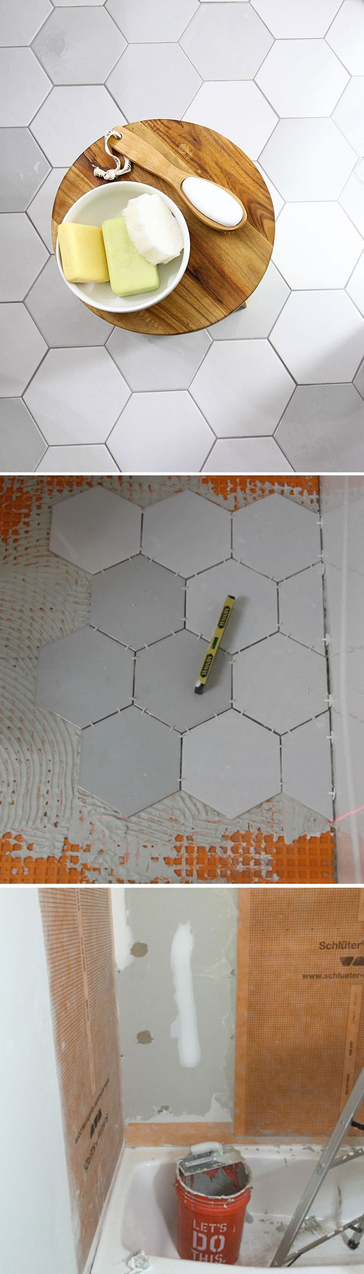 Colored Grout and New Tile Create Fresh Bathroom Look. 17 Best images about Bathroom Design Ideas on Pinterest   Toilets