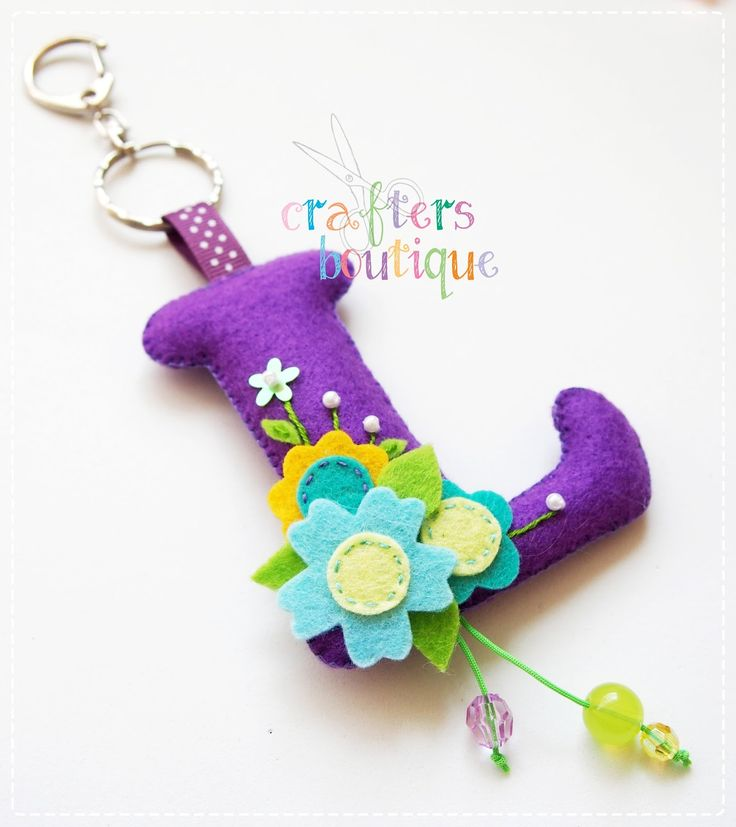Crafters Boutique: Felt Monogram Keychains