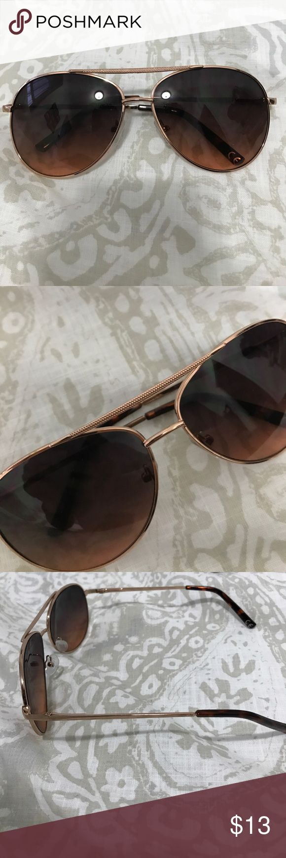 Rose gold aviators! Rose gold aviator sunglasses. Never been worn! American Eagle Outfitters Accessories Sunglasses
