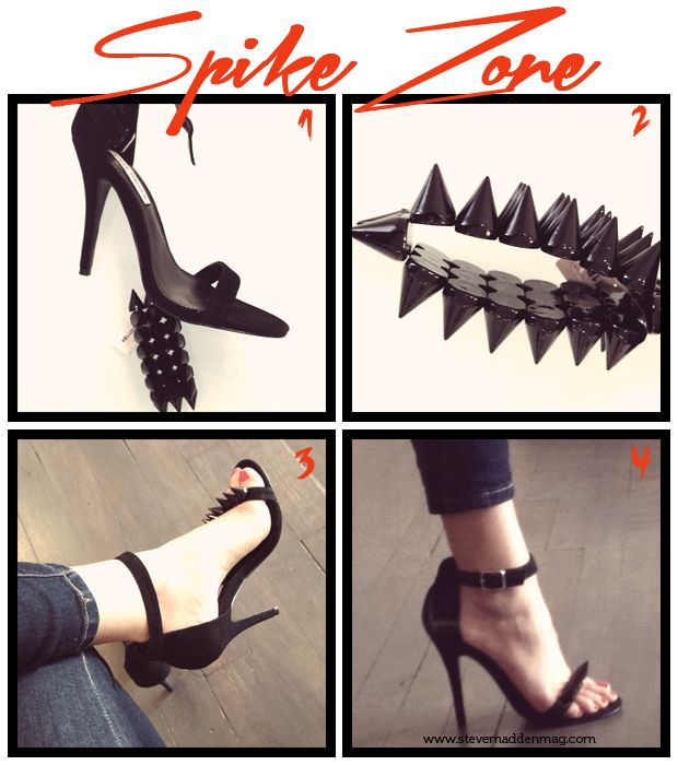Steve Madden Mag - DIY Another awesome way to make your plain black shoes just a little more edgy!