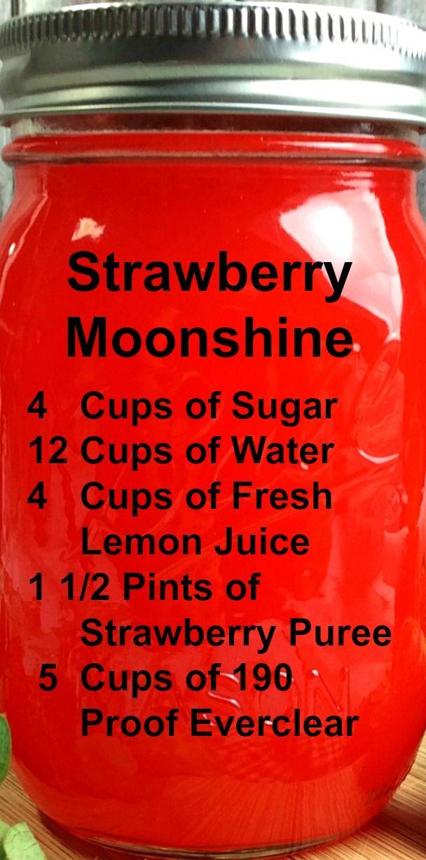 Strawberry MOONSHINE ~ A fun and delicious recipe!