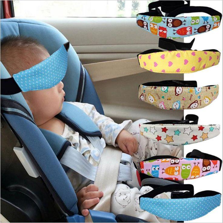 Adjustable Car Safety Seat Sleep Positioner Stroller Baby Head Support Fastening Belt Adjustable Pram Strollers Accessories - NewBorn & Mom