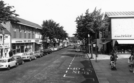 Old photo of High Street, Solihull