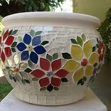 Resultado de imagem para instagram vaso em mosaico
