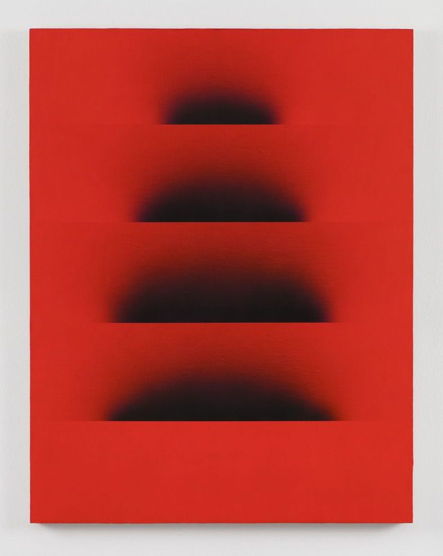 """Adam Henry [USA] (b 1974) ~ """"Untitled (soft Pyramid)"""", 2016. Acrylic and synthetic polymers on Linen (79 x 107 cm"""