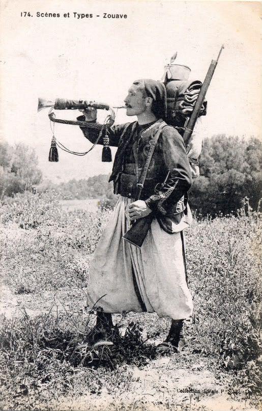 Zouave Français en 1914.