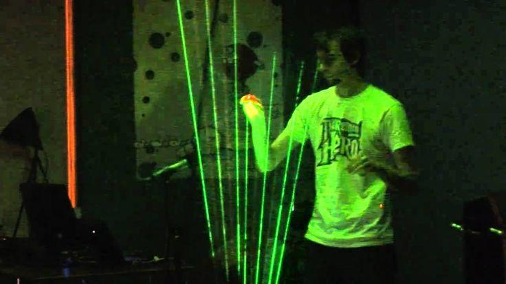 Tetris Theme on Laser Harp - Theremin Hero LIVE! Finale - Gamecity 5 Not...