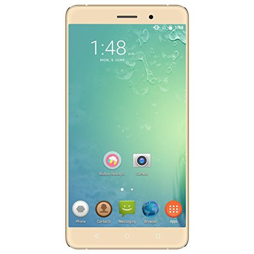 BLUBOO Maya - Smartphone 3G Android 6.0 OS ( Quad Core, 5.5 '' HD Schermo, 2GB RAM 16GB ROM, 8MP+ 13MP Camera, Dual SIM, 3000mAh, OTG) Oro