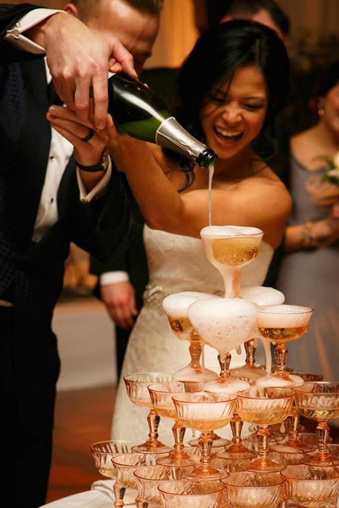 Awesome Photo Op for Weddings ~ The Champagne Tower - Mon Cheri Bridals