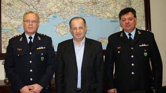 Στον Περιφερειάρχη ΑΜ-Θ οι νέοι Αστυνομικοί Διευθυντές και ο νέος Περιφερειακός Διοικητής Πυροσβεστικής ΑΜ-Θ