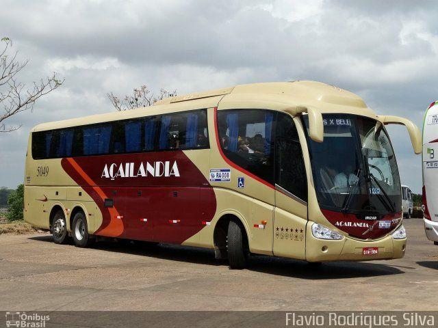 Ônibus da empresa Viação Açailândia, carro 5049, carroceria Irizar PB, chassi Volvo B11R. Foto na cidade de Marabá-PA por Flavio Rodrigues Silva, publicada em 16/08/2016 20:01:35.