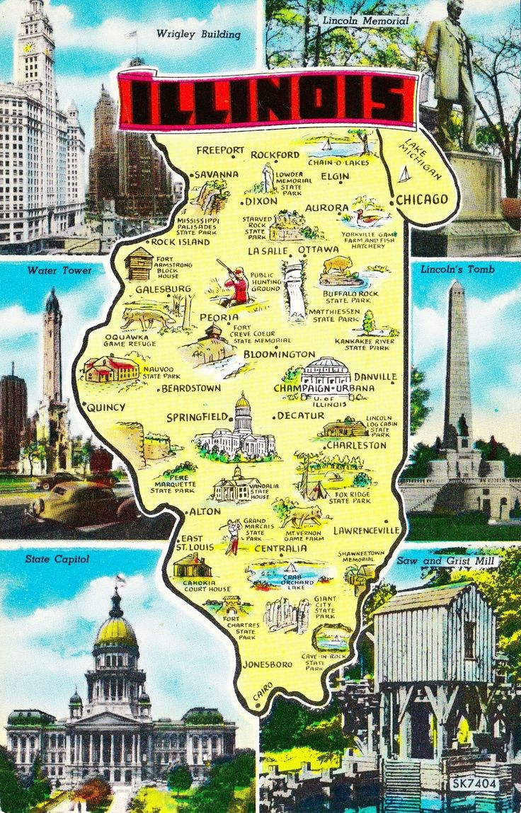 Illinois Map 19 best State Map USA