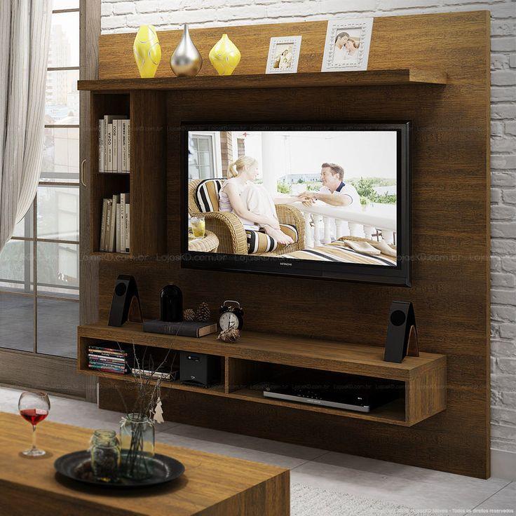 Compre Painel para TV até 50 Polegadas TB101 100% MDF 180 x 180 x 40 Nobre - Dalla Costa em Promoção com ✓ Até 12x ✓ Fretinho