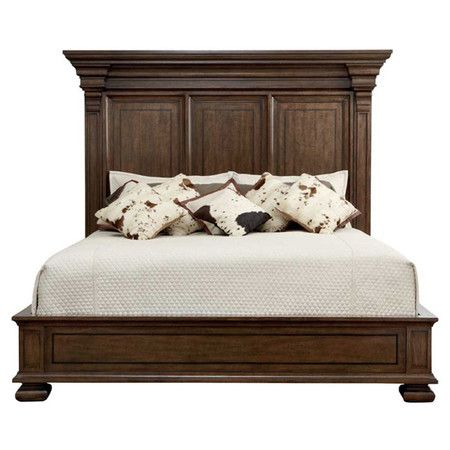 Refresh your guest room or master suite in style with this traditional panel bed, featuring crown molding and square bun feet.   Pr...880.00