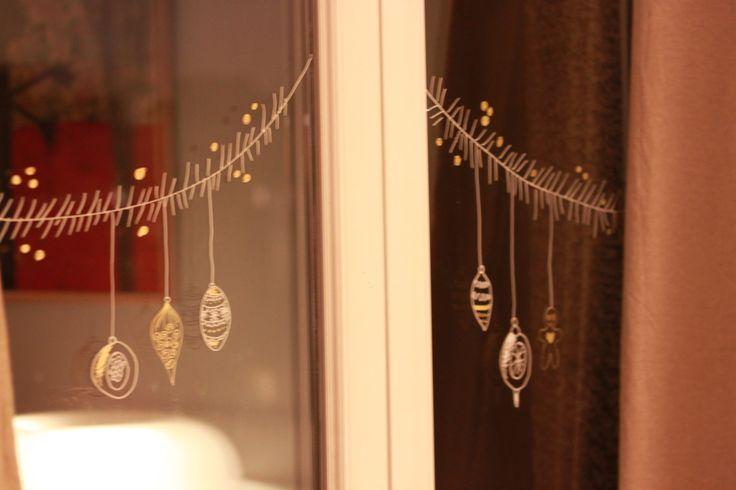 Ambiance de Noël phase 2: Décoration des fenêtres!!!