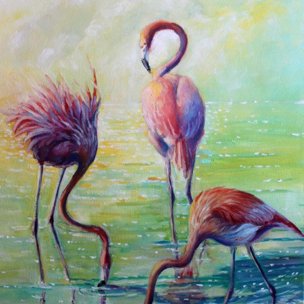 Flamingo painting for your beautiful home