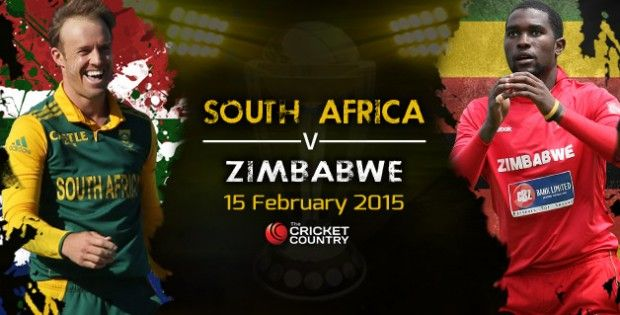 On 15th Feb, 14:30 Local Time in Australia (RSA vs ZIM) South Africa v Zimbabwe Live Streaming, Live Scores, Live Scorecard, match will be played in Cricket World Cup 2015. You can Watch Live Icc Cricket World Cup 2015 Online - South Africa v Zimbabwe. You can also watch South Africa v Zimbabwe Live Streaming Online HD Quality