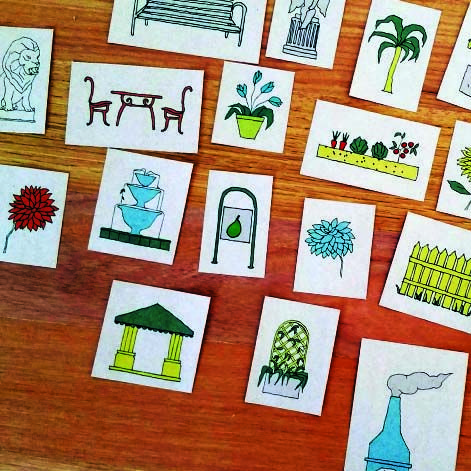 Creative prompts for Sunshine Children's Garden, a free hands-on construction play event on Saturday 4 July 2015 at Sunshine Plaza Shopping Centre.