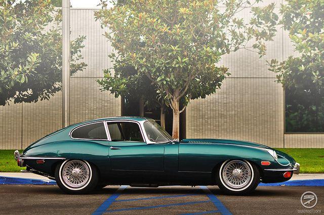 Jaguar E-Type; harder, faster, harder, faster, we're DRIVING, okay?