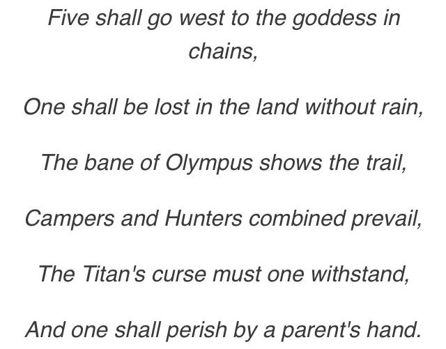 Percy Jackson Prophecies