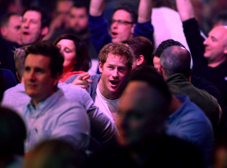 anythingandeverythingroyals:  Prince Harry attended a darts match during the William Hill PDC World Darts Championship, Alexandra Place, London, December 29, 2014