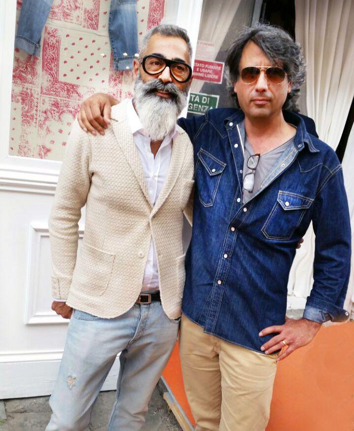 Alessandro e Piero #alessandrogramolini #pitti #firenze