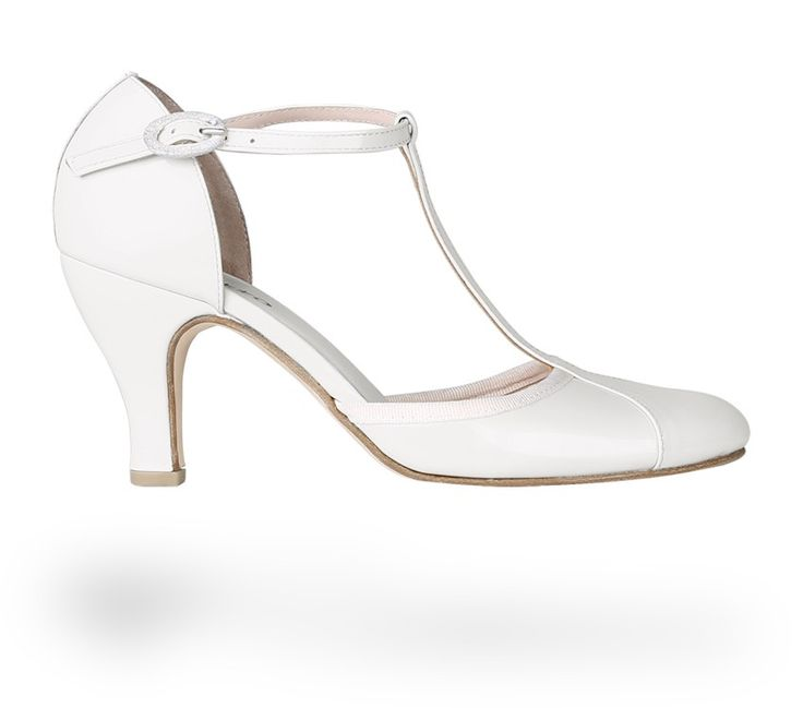 T-strap shoe Baya Coco White Patent Leather by Repetto. #Repetto #Wedding #WeddingShoes #White #WhiteShoes #Blanc
