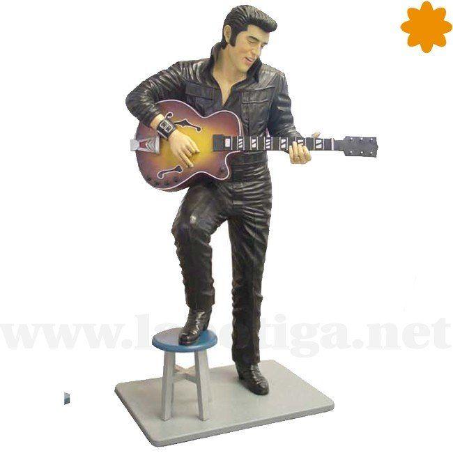 Divertida Figura del Rey del Rock Tocando la Guitarra