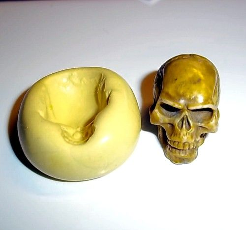 SKULL Mold Flexible Push Mould For Resin Paper Clay Sculpey Fimo Polymer Premo Wax Chocolate Fondant (M200). $4.95, via Etsy.