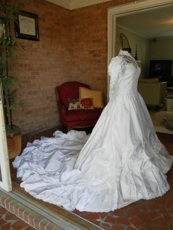 This looks just like my wedding dress.  I thought it looked so nice alongside my husband in his military dress blues.