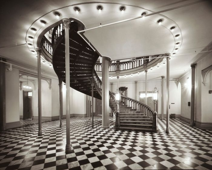 Laurence Aberhart - Staircase, State Capitol, Baton Rouge, 1988