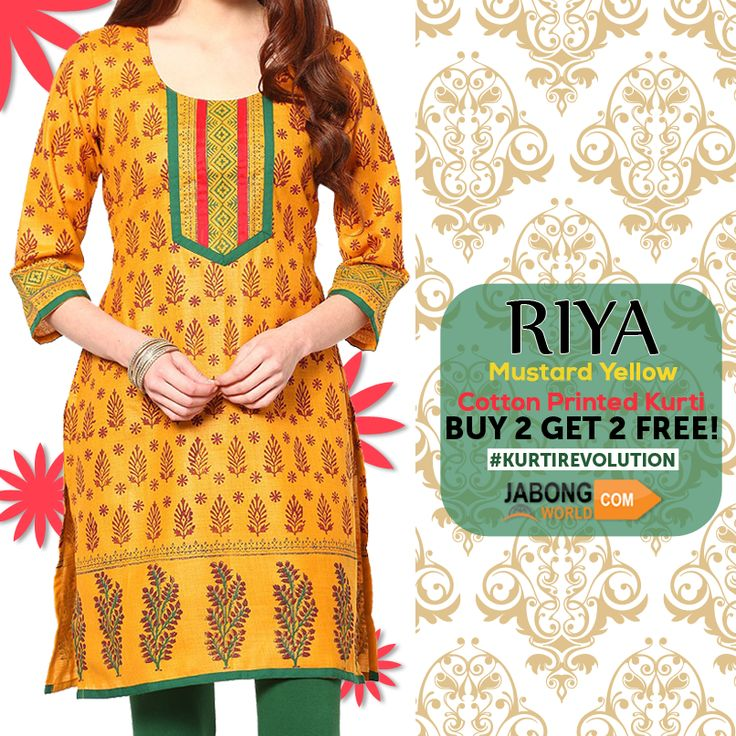#KurtiRevolution is BACKK! Start SHOPPING. #BUY2GET2FREE Here---> http://www.jabongworld.com/kurti?utm_source=ViralCurryOrganic&utm_medium=Pinterest&utm_campaign=KurtiRevolution-27-aug2015